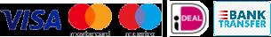VISA - Mastercard - Maestro - iDeal - Bank Transfer